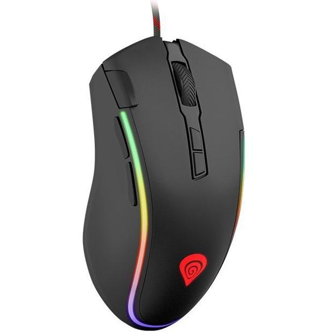 Мишка Natec Genesis Krypton 700, (7200dpi), Гейминг, USB, черна, подсветка RBG image