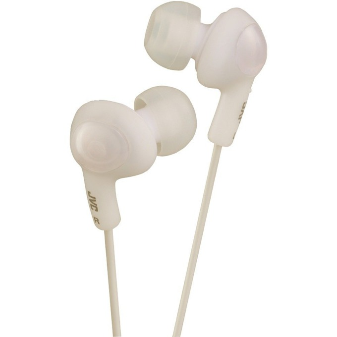 Слушалки JVC HAFX5BE Gumy Plus Noise Isolating Headphones, бял image