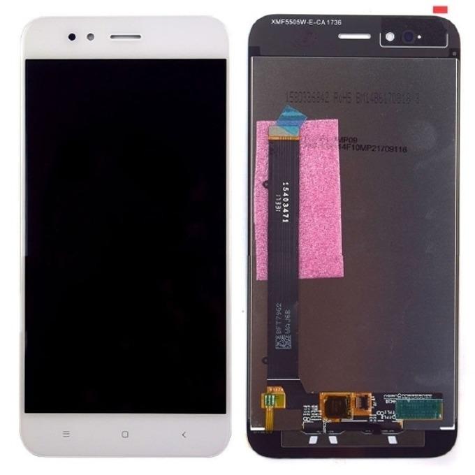 """Дисплей за Xiaomi Mi A1 LTE Dual Sim 5,5"""", LCD, с тъч, бял image"""