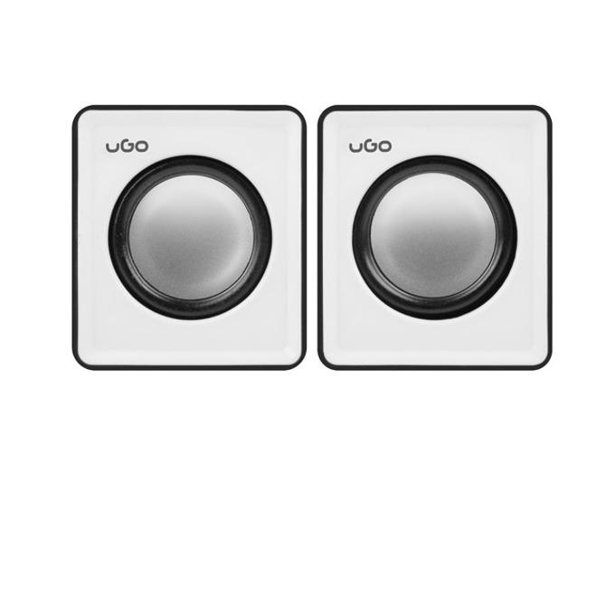 Тонколони uGo Speakers 2.0 UGL-1016, 2.0, 6W RMS, бяло-черни image