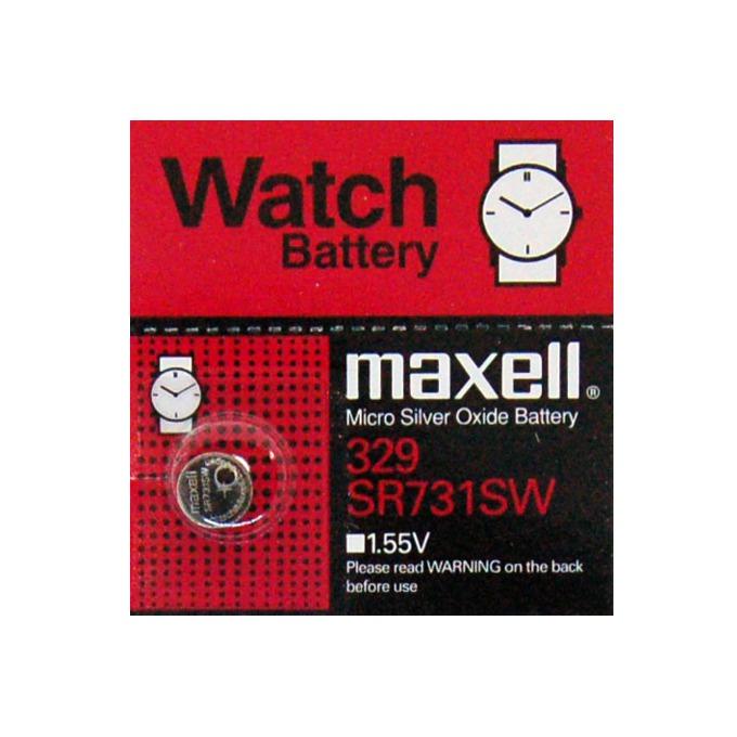 Батерия бутонна сребърна MAXELL SR-731SW/329, 1.55V  image