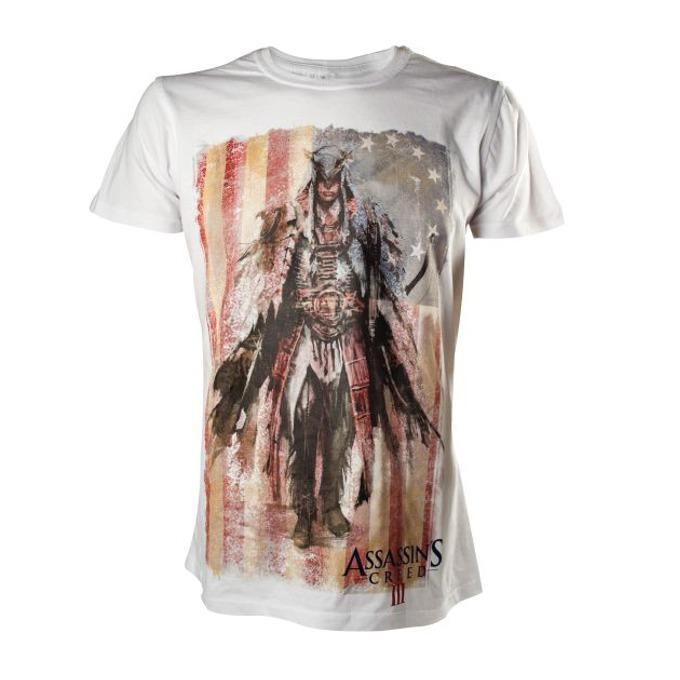 Тениска Bioworld, Assassin's Creed 3 Concept Art, размер L, бяла image