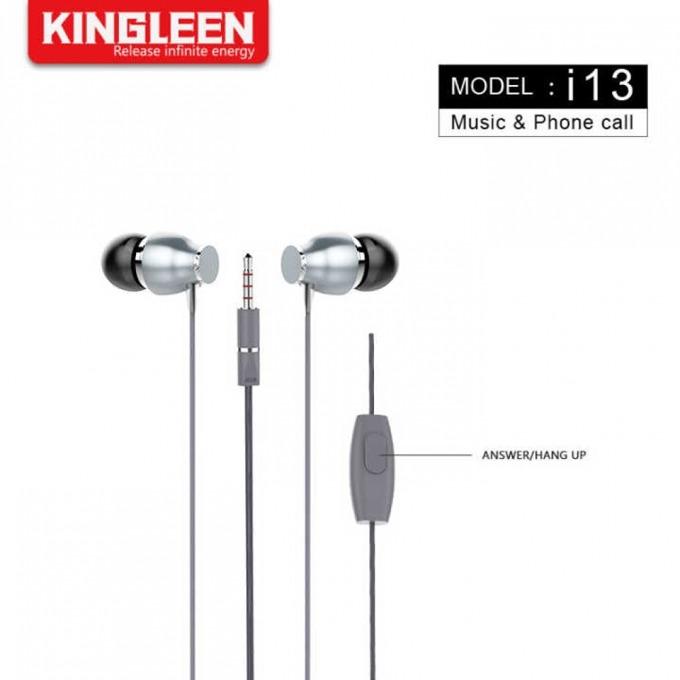 Слушалки Kingleen i13, микрофон, 1.2m кабел, сиви image