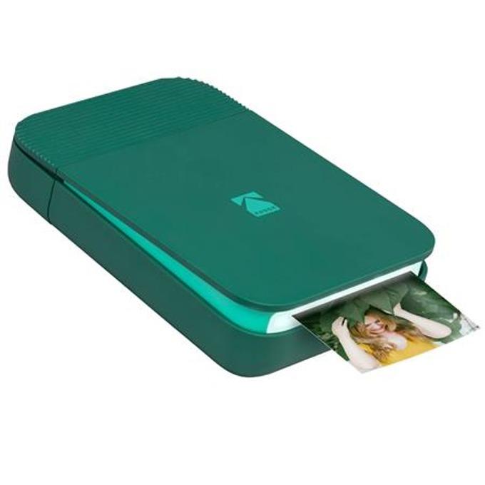 Мобилен принтер Kodak Smile Printer green RODSMMPGN, цветен термичен фотопринтер, A2 формат, Bluetooth, micro USB, зелен image