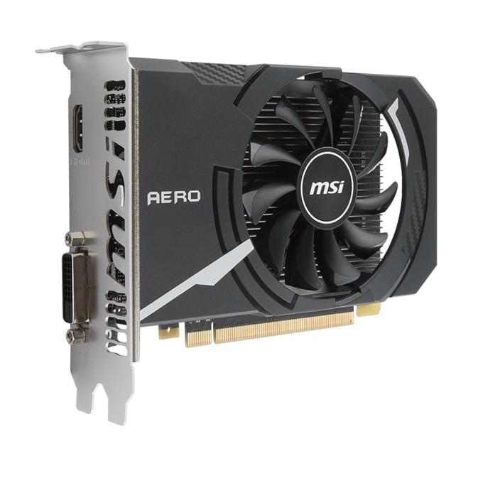 Видео карта Nvidia GeForce GT1030, 2GB, MSI AERO ITX 2G OC, PCI-E 3.0, GDDR5, 64 bit, HDMI, DVI-D image