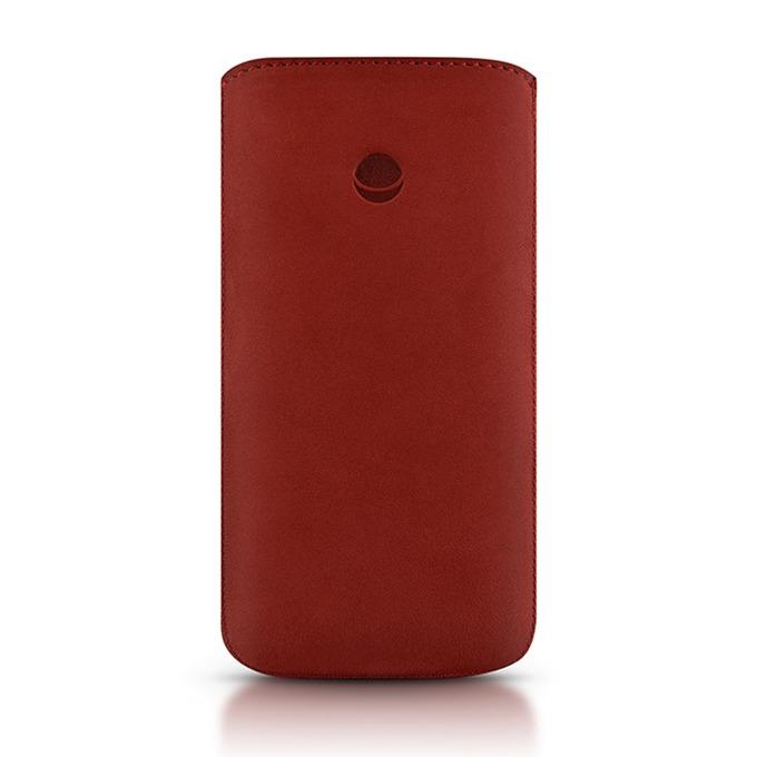 Калъф за Apple iPhone 5/5S/SE, джоб, кожа, Beyza RetroStrap Plus Leather, червен image