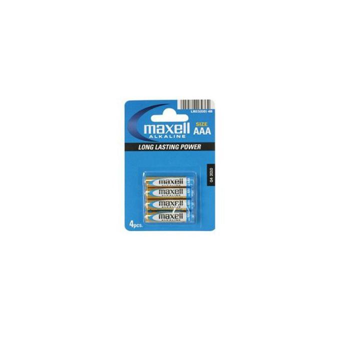 Батерии алкални Maxell ААА, 1.5V, 4 бр. image