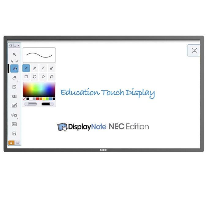 "Интерактивен дисплей NEC E651-T, 65""(165.1 cm), Full HD, 10 point infrared touch, VGA, HDMI, черен image"