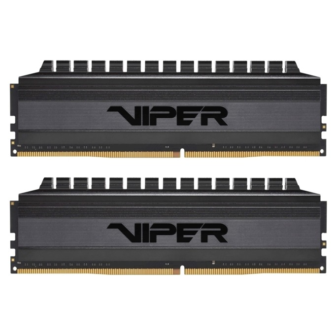 Памет 16GB(2x8GB) DDR4, 3000MHz, Patriot Viper 4 Blackout PVB416G300C6K, 1.35V image