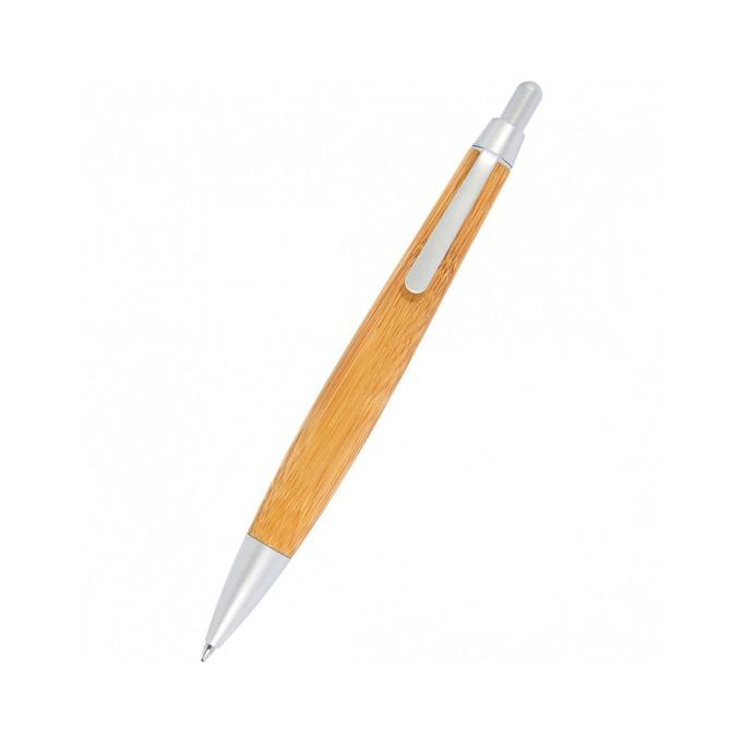 Химикалка Wedo Bamboo, син цвят на писане, 1.0 mm, кафява, цената е за 1бр. (продава се в опаковка от 12бр.) image