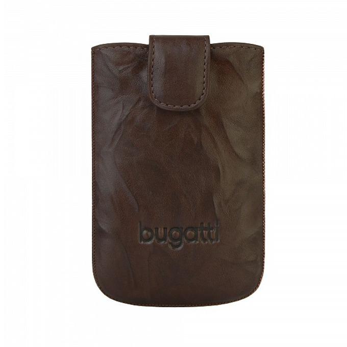 Универсален калъф, джоб, естествена кожа, Bugatti SlimCase Unique Leather Case L, кафяв image