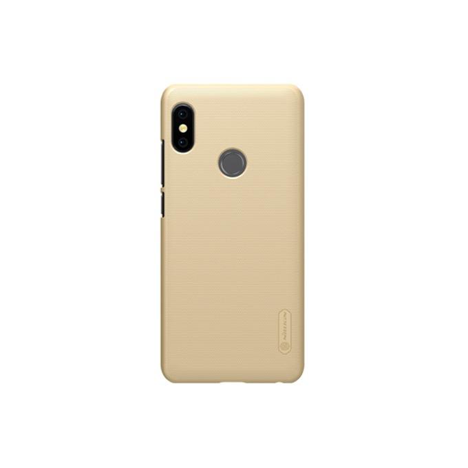 Калъф за Xiaomi Redmi Note 5, страничен протектор с гръб, пластмаса, Nillkin Redmi Note 5, удароустойчив, златист image
