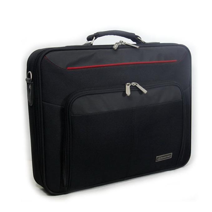 """Чанта за лаптоп LSKY B&R, до 15.6""""(39.62 cm), черно/червена image"""