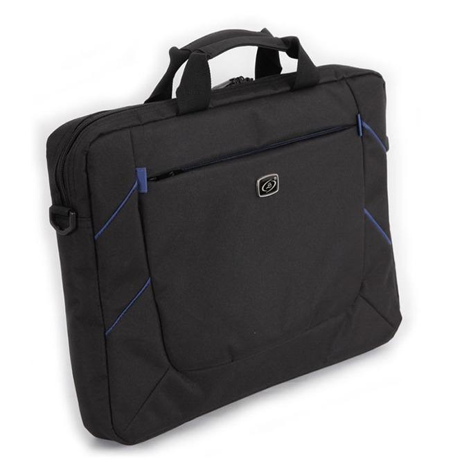"""Чанта за лаптоп LSKY B&B, до 15.6""""(39.62 cm), черно/синя image"""