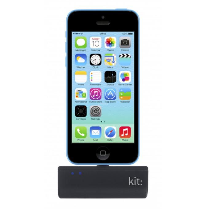 Външна батерия/power bank/ Kit Lighting Emergency charger 2200 mAh, черен  image