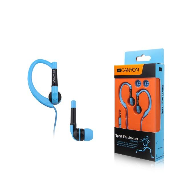Слушалки Canyon CNS-SEP1BL, микрофон, сини image