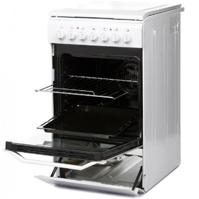 Готварска печка Indesit I5E52E(W)/KZ, 57 л. обем на фурната, 5 функции, 4 бързонагряващи, бяла image