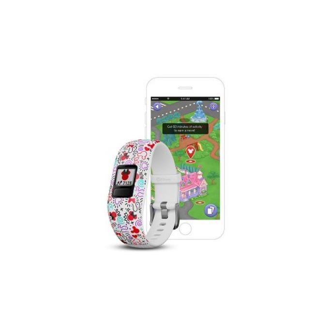 Смарт гривна Garmin vívofit® jr. 2, активити тракер за деца, 88x88 pix. дисплей, Bluetooth, водоустойчива, бял(Minnie Mouse) image
