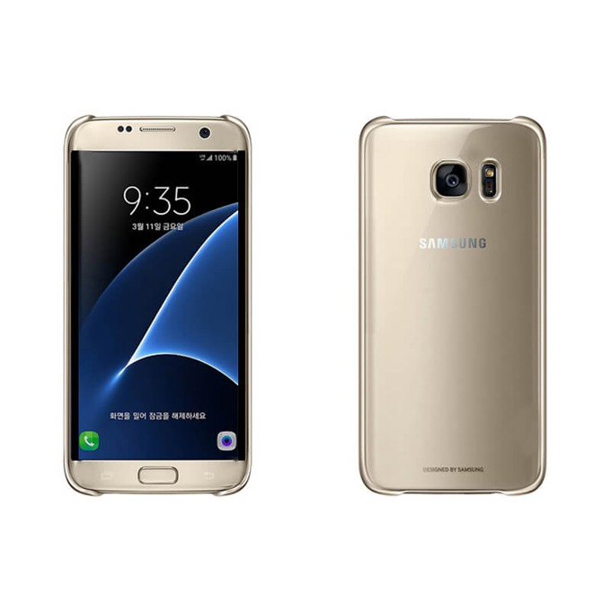 Калъф за Samsung Galaxy S7, страничен протектор с гръб, поликарбонат, Devia Glimmer Case, златист image