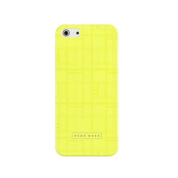 Заден капак HUGO BOSS Catwalk Hardcover за iPhone 5/5S, луксозен, жълт image