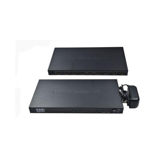 DeTech HDMI(ж) към 8x HDMI(ж)