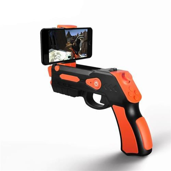 Джойстик Omega Remote Augmented Reality Gun Blaster, съвместим с Android/iOS, Bluetooth, черен/оранжев image