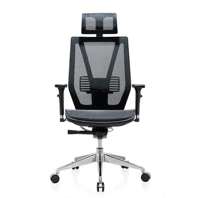 Работен стол RFG TECH@LINE (ON4010200099), меш, 250 кг. максимално натоварване, алуминиева база, газов амортисьор, черен image