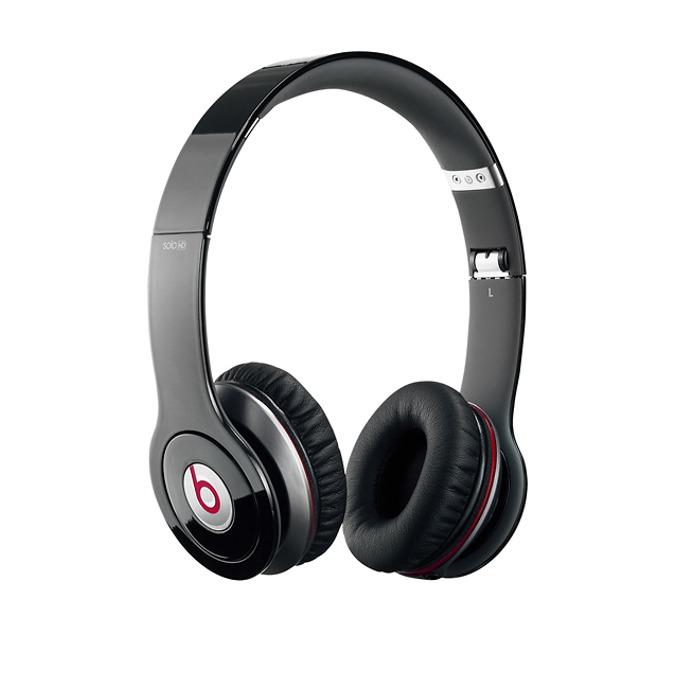 Слушалки Beats by Dre Solo HD On Ear, черни, сгъваеми, оптимизирани за iPhone/iPad/iPod image