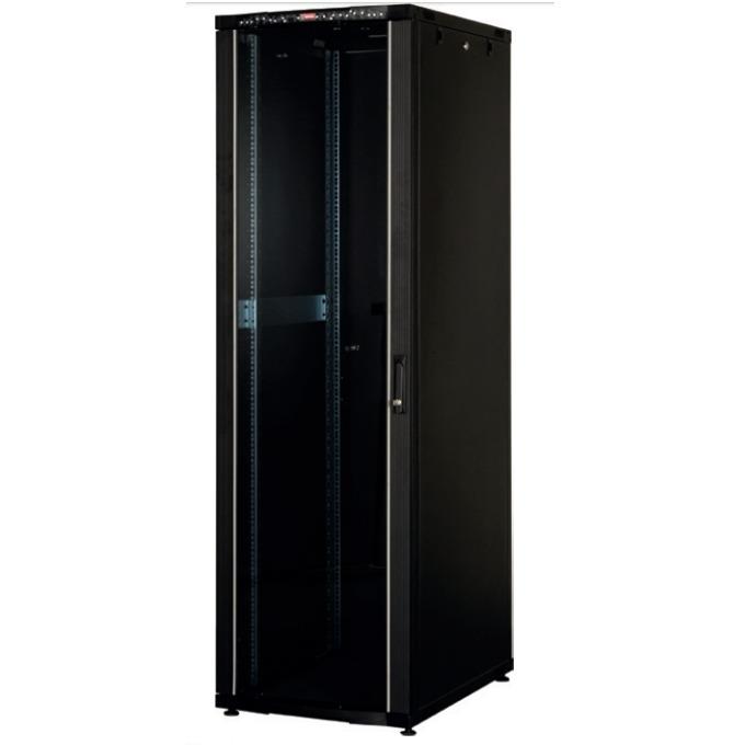 """Комуникационен шкаф Lande LN-CS42U8010-BL, 19"""", 42U, 800 x 1000 мм, перфорирана врата, LCD термометър, черен image"""