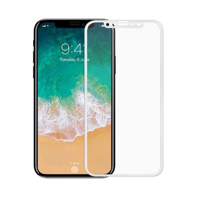 Протектор от закалено стъкло /Tempered Glass/ Remax GL-27, за Apple iPhone X смартфон, бял image