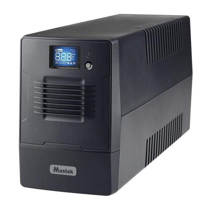 UPS Mustek PowerMust 800 800-LCD-LI-T10, 800VA/480W, LCD дисплей, Line Interactive, Mini Tower image