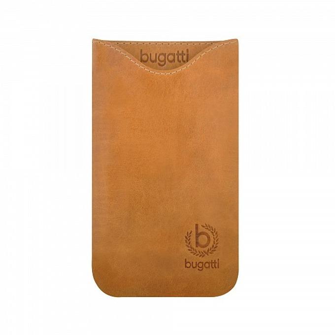 Универсален калъф, джоб, естествена кожа, Bugatti Skinny XL Golden Summer, златист image