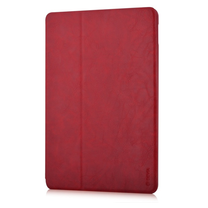 """Калъф /тип бележник/ Devia Elite за iPad Pro, до 9.7""""(24.6cm), кожен, поставка, червен image"""