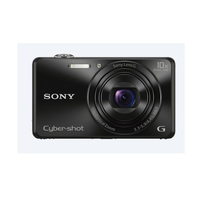 "Sony Cyber Shot DSC-WX220, черен, 10xOptical zoom, 18.2Mpix, 2.7"" (6.86cm) екран, SDHC/SDXC, micro USB, micro HDMI image"