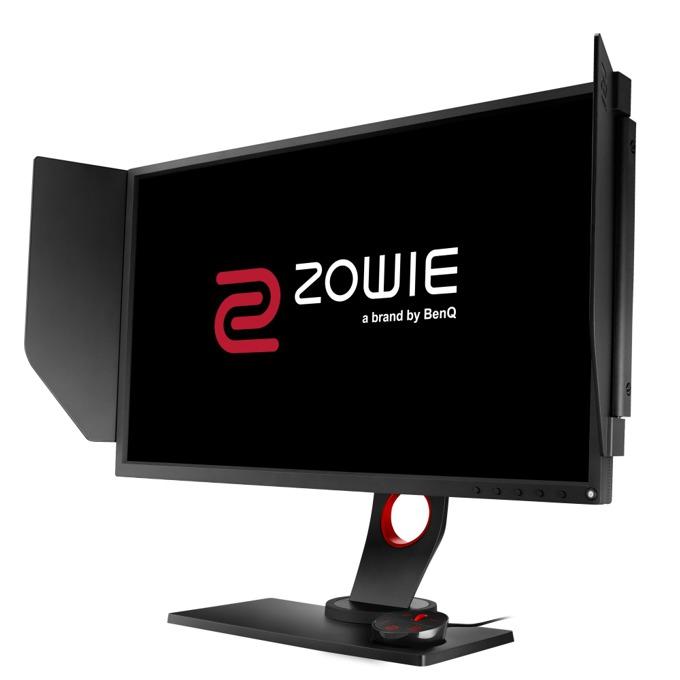 """Монитор BenQ Zowie XL2540 (9H.LFNLB.QBE), 24.5"""" (62.23 cm), TN панел, Full HD, 1ms, 12 000 000:1, 400 cd/m², Display Port, 2x HDMI, DVI, USB, бързи бутони image"""