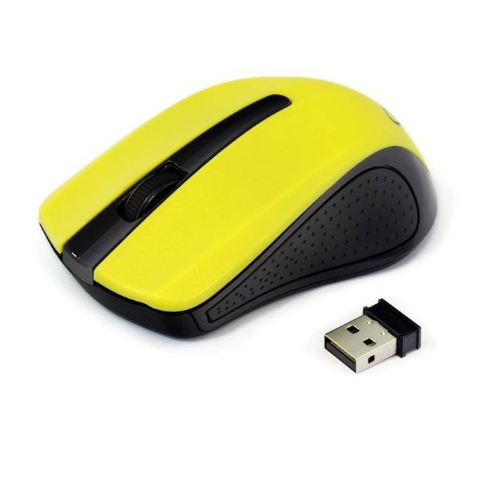 Мишка Gembird MUSW-101-Y, оптична(1200 dpi), безжична, жълта image