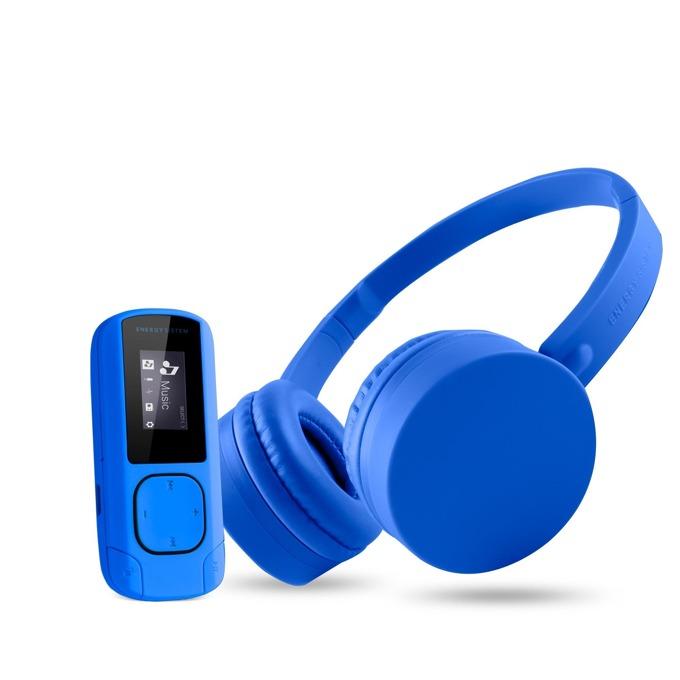 Комплект Energy Sistem Music Pack Bluetooth, (MP3 + Headphones), микрофон, до 8 часа работа, сини image