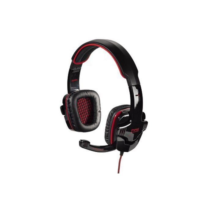 Слушалки HAMA Fire Starter, гейминг, микрофон, черно/червени image