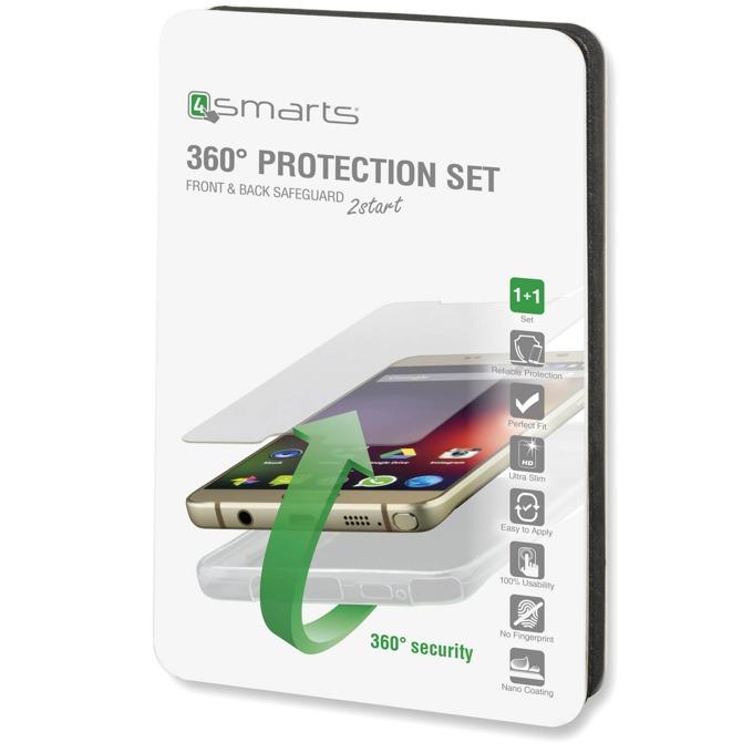 Протектор от закалено стъкло /Tempered Glass/, 4Smarts за iPhone SE/5S/5 в комплект с 4Smarts TPU кейс image
