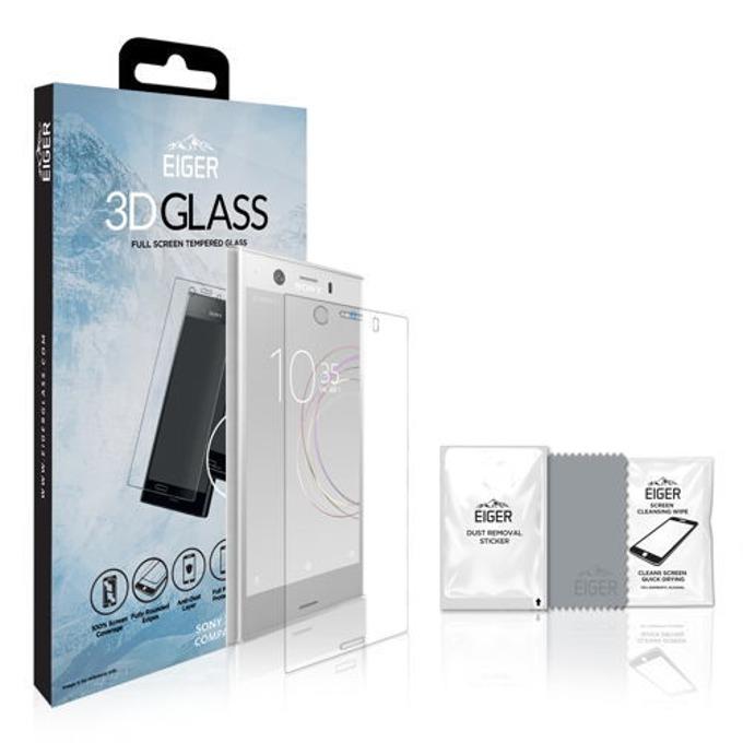 Протектор от закалено стъкло /Tempered Glass/, Eiger EGSP00149, за Sony XZ1 Compact, 3D image
