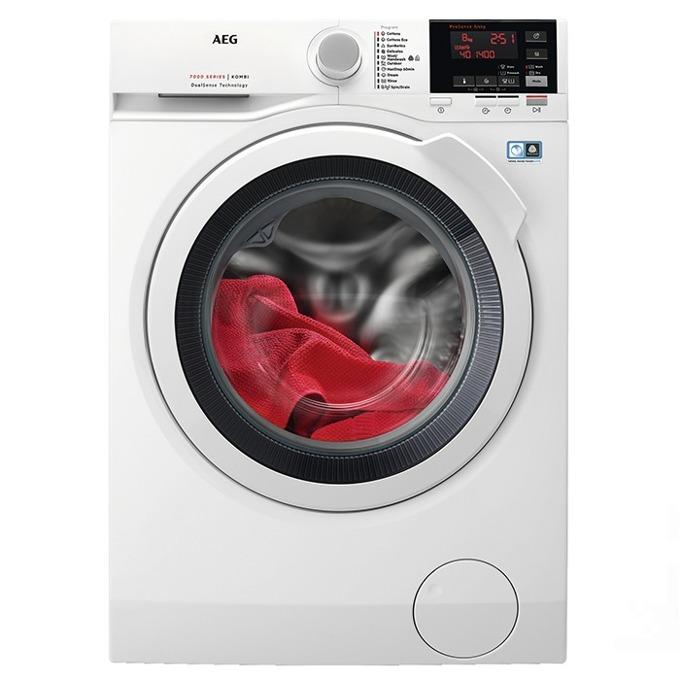 Пералня със сушилня AEG L7 WBG68W, клас А, 8 кг. капацитет пералня/4 кг. капацитет сушилня, 1600 оборота в минута, 16 програми, свободностояща, 60cm ширина, бяла  image