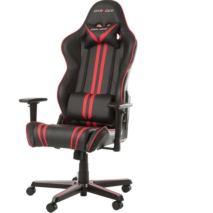 Геймърски стол DXRacer Racing, черен/червен image
