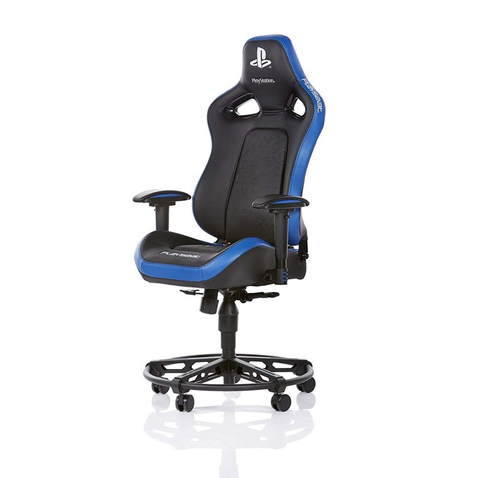 Геймърски стол Playseat L33T PlayStation Edition, до 120kg, регулиране на височината 46-56 cm, черен/син image