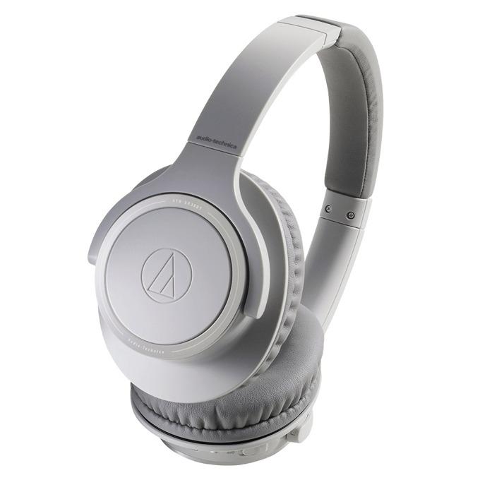 Слушалки Audio-Technica ATH-SR30BT, безжични(Bluetooth 5.0), микрофон, 70 часа време за работа, контрол на звука, сгъваеми, сиви image