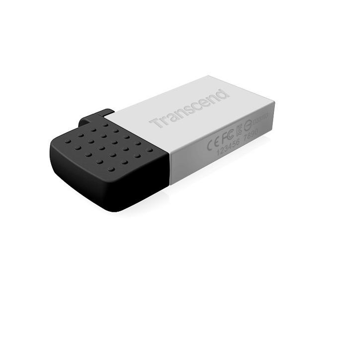 32GB USB Flash Drive, Transcend JetFlash 380S, USB2.0 / microB (OTG), сребриста image