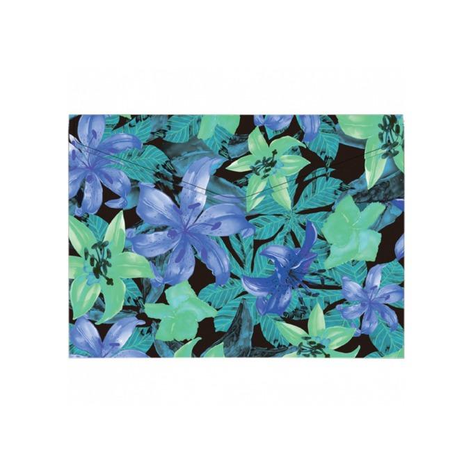 Папка Centrum, за докуменри с формат до A4, с копче, лилава на цветя image