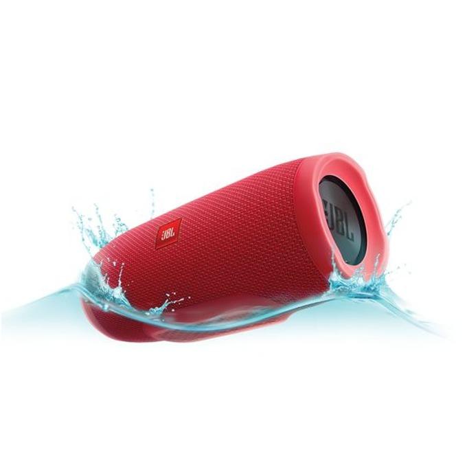 Тонколона JBL Charge 3, 2.0, 20W RMS, безжична, 3.5mm jack/Bluetooth, червена, микрофон, IPX7, до 20 часа работа image