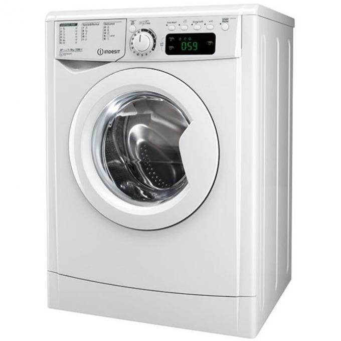 Перална машина Indesit EWE 81283 W EU, клас A+++, 8 кг. капацитет, 1000 оборота в минута, 16 програми, свободностояща, 60 cm. ширина, бяла image