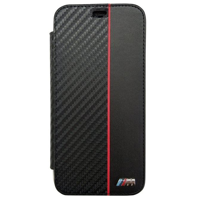 Калъф Apple iPhone X, отваряем, синтетична кожа, BMW M Collection Book Case, високо качество на материали и изработка, черен image