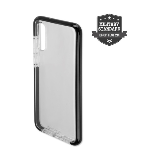 Калъф за Huawei P20, хибриден, поликарбонат и TPU, 4smarts Soft Cover Airy Shield, черен/прозрачен image